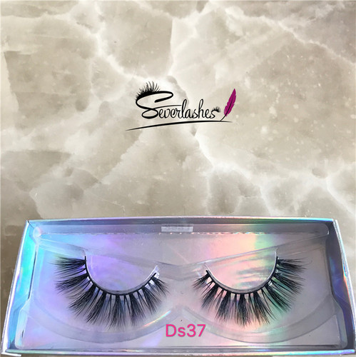 Ds37 2017 Factory Best Selling Superior soft silk Lily Mink 3D Strip Lashes