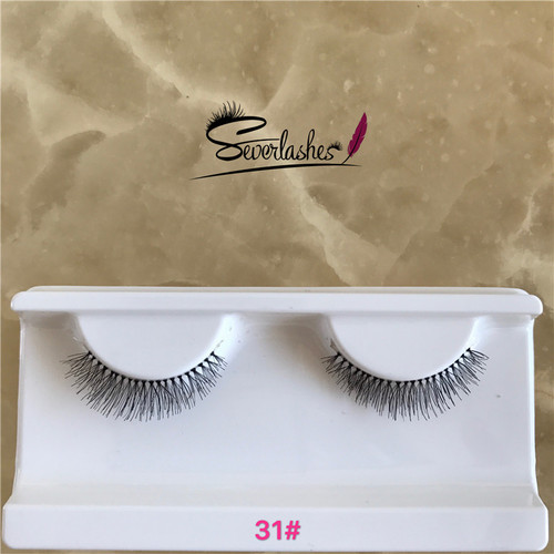 31# Premium natural human hair lashes with custom packaging, ardel false lashes