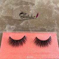 D145 Wholesale Beauty Supply Eyelash Premium Mink Fur Eyelashes Full Strip Privated Label 3D Mink La
