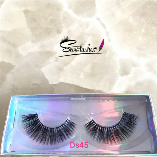 Ds45 Private Label Wholesale 3D 100% Mink Fur False Eyelashes Silk Lashes