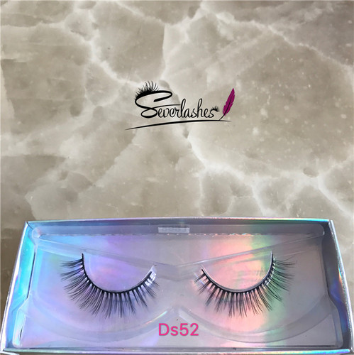Ds52  3D Faux Mink Double-Layered Silk Lashes Synthetic False Eyelashes