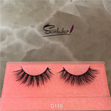 D119  Private Label Mink Eyelashes 3D Mink Lashes Wholesale Eyelashes Extension