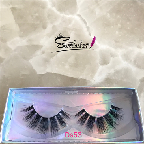 Ds53  3D Faux Mink Double-Layered Silk Lashes Synthetic False Eyelashes
