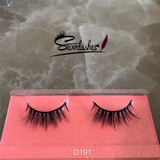 D191 3D Long cross Thick Authentic 100% Mink Fur EyeLashes stereoscopic soft criss-cross for Lady