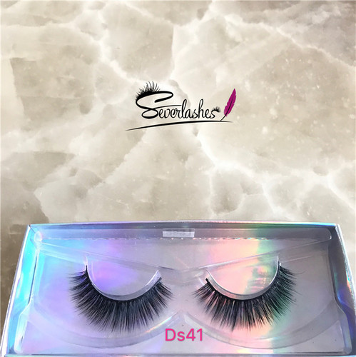 Ds41 3d silk lashes private label double layer 3D beautier eyelash extension prime silk
