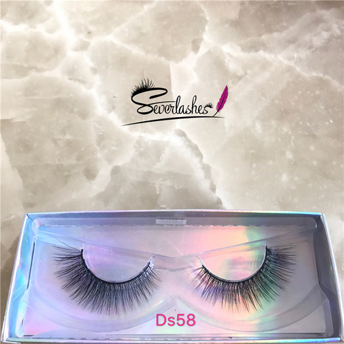 Ds58 Private label 3D silk lashes cheapest price silk eye lashes