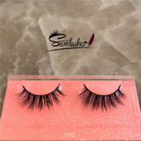 D152 new 100% handmade real mink fur false eyelash 3D strip mink lashes thick fake faux eyelashes
