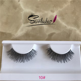 10# High quality custom made human hair eyelashes wholesale private label