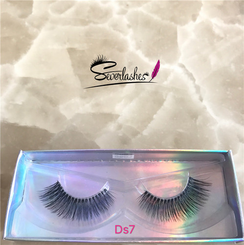 Ds7  Severlashes New private label strip silk lashes own brand 3d custom eyelash packaging
