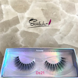 Ds21 wholesale high quality 3D silk lashes with your label logo packing