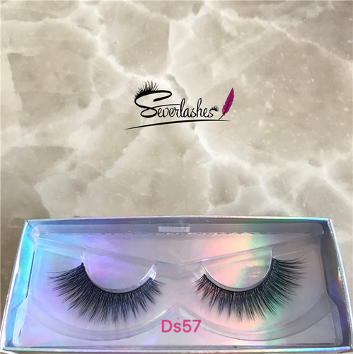 Ds57 New styles magnatic strip false lashes 3d silk lash synthetic eyelash