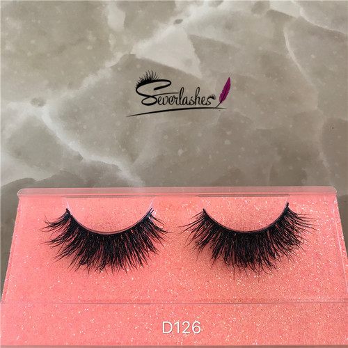 D126 Wholesale Mink Fur Eye Lashes With 3d magnetic lashes mink magic eyelash