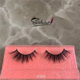 D105 Soft new design mink fur fake eye lash false eyelashes real mink 3D strip lashes