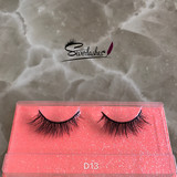 D13own brand false eyelashes handmade 3D real mink lashes with custom box by Sever