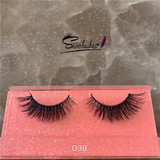 D39 New Styles 3D Mink False Eyelashes Top Quality Custom Lashes Packaging Mink Lashes