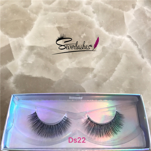 Ds22 Wholesale 3D Faux Mink Double-Layered Silk Lashes Synthetic Fake Eyelashes
