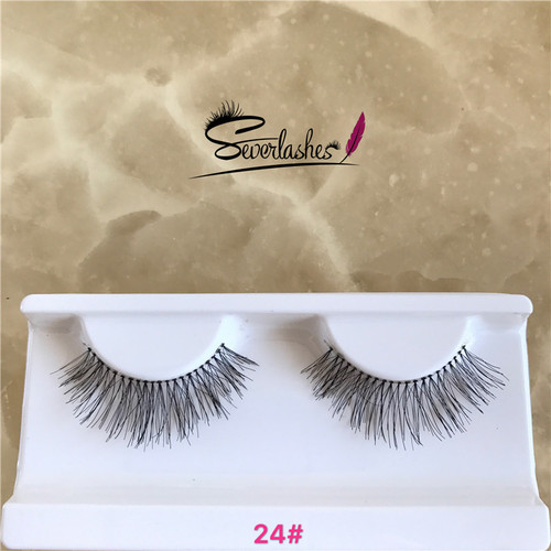 24# Severlashes  100% hand made human hair strip lashes in stock