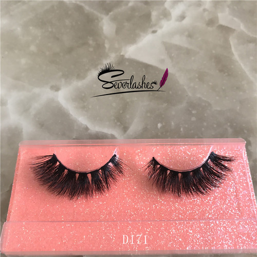 D171 Wholesale alibaba private label 3D mink fur lashes strip long eyelashes false eyelash mink stri
