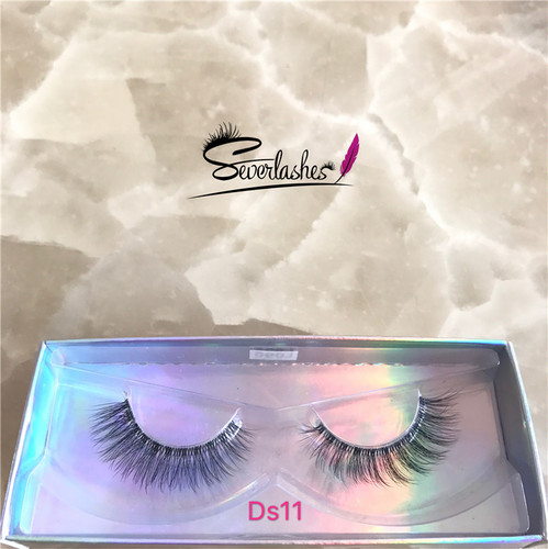 Ds11 2017 Factory Best Selling Superior soft silk Lily Mink 3D Strip Lashes
