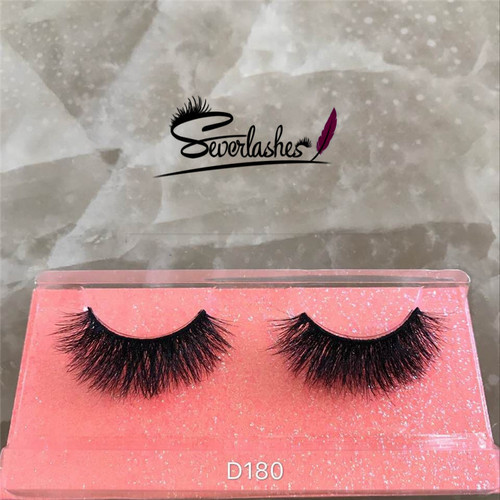 D180 100%mink fur lash fashion 3D stripe criss-cross homemade beauty  eyelashes