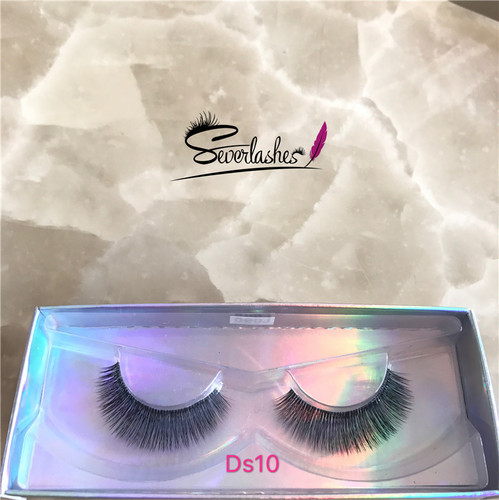 Ds10 2017 Factory Best Selling Superior soft silk Lily Mink 3D Strip Lashes