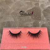 D38 Private Label lashes 3D Mink fur Eyelashes 2017 New Design