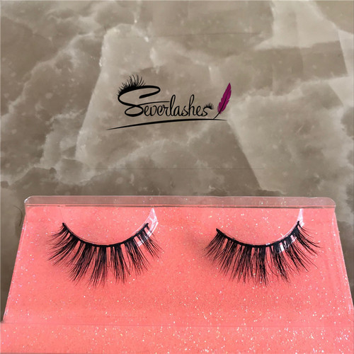 D156 private logo Lashes 100% mink lashes lovely lashes magnetic eyelashes strip