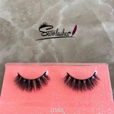D185 3D Authentic fashion 100% Mink hair EyeLashes thick dense crazy false eyelash FOR MAKEUP