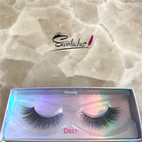 Ds17permanent 3D synthetic silk fiber eyelashes faux mink lashes