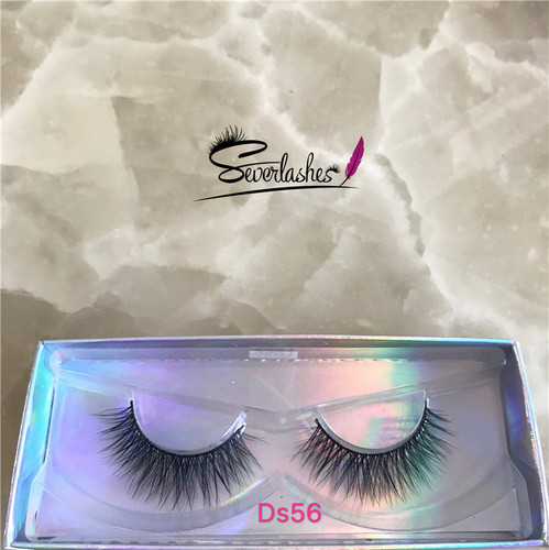 Ds56 Hot sell 3d korea vegan friendly silk naked band eye lashes