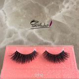 D112 New arrival 3D fur Mink Lashes With Own Brand Packaging, flare lash, handmade type lashes