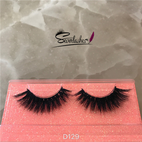 D129 2017 premium wholesale eyelashes make your own brand 3d mink lashes