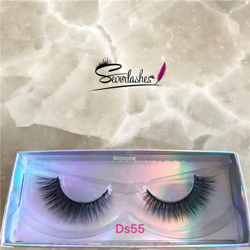 Ds55 Hot sell 3d korea vegan friendly silk naked band eye lashes