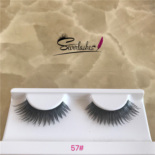 57# Most Fashionable 100% Real 3D Natural Look Human Hair Lashes
