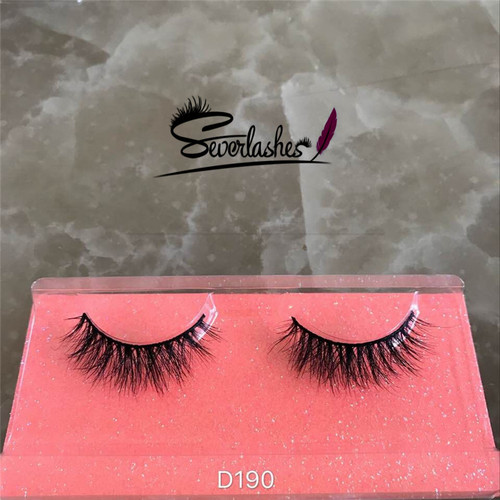 D190 Client customized style 100%mink fur 3D cross blink eyelashes for sexy women