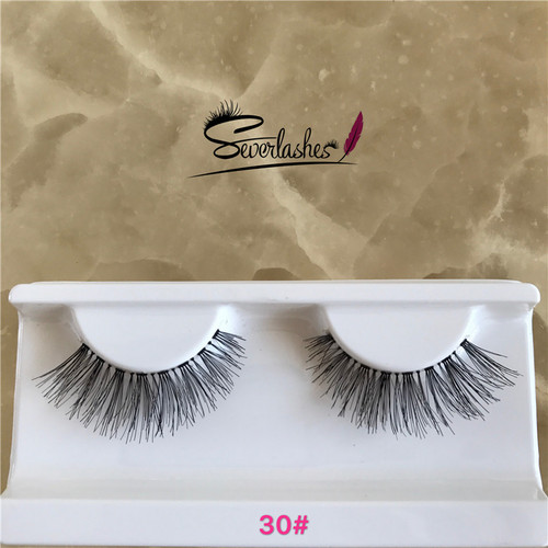 30# Premium natural human hair lashes with custom packaging, ardel false lashes