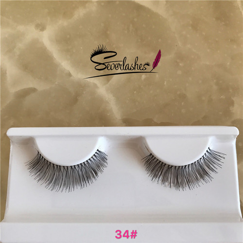 34# Longest Wispy False Eyelashes/Private Label 3D human hair Silk/Sythetic/Mink Lashes