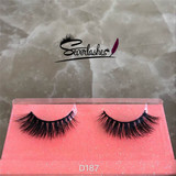 D187 100%mink fur lash 3D natural long eyelashes for beauty women