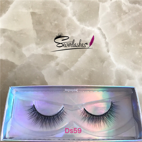 Ds59 Private Label Wholesale 3D 100% Mink Fur False Eyelashes Silk Lashes