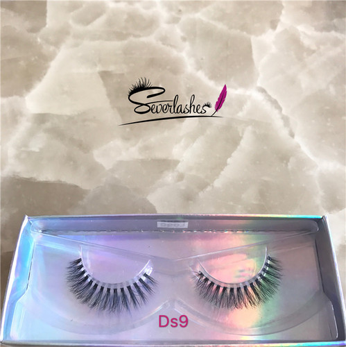 Ds9 New Natural Silk 3D Mink Lashes False Magnetic Eyelashes