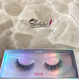 Ds19 3D Faux Mink Double-Layered Silk Lashes Synthetic False Eyelashes