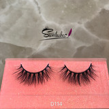 D114 100% hand made 3D effect natural looking mink eyelashes 3D mink lashes with magnetic lash packa