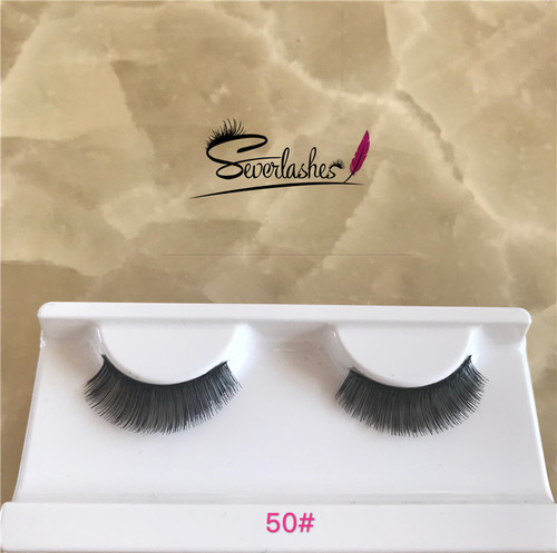 50# Private label mink eyelashes korea fashion human hair lashes