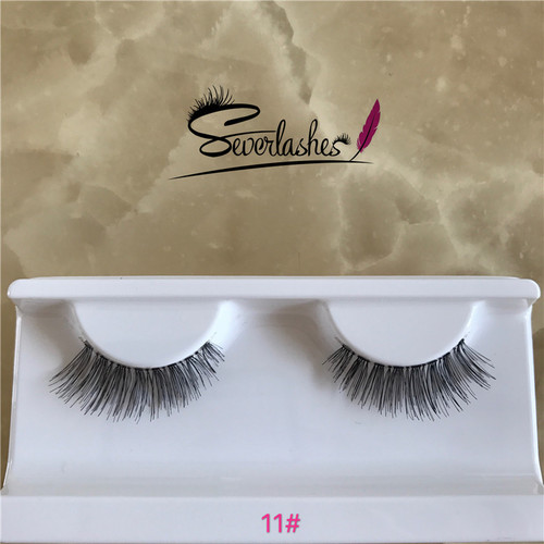 11# Hundreds of styles protein human hair eyelashes wholesale false eye lashes