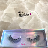 Ds6 wholesale false eyelash 3D silk lashes with custom eyelash box