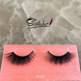 D150 new 100% handmade real mink fur false eyelash 3D strip mink lashes thick fake faux eyelashes