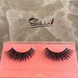 D153 Wholesale false eyelashes good quality 3d mink eyelashes private label 3d Siberian mink lashes