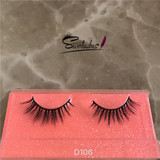 D106 Top Private Label 3d mink lashes of Siberia Sable, mink strip eyelashes by Severlashes